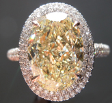 5.02ct Fancy Yellow VS2 Oval Diamond Ring GIA R7086