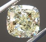 Loose Yellow Diamond: 1.61ct U-V SI2 Cushion Modified Brilliant Diamond GIA R7080