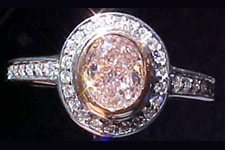 SOLD....Ring- GIA .63ct Oval Cut Pink Diamond Micro-Set Ring R1341