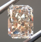 Loose Brown Diamond: 1.42ct Y-Z, Light Brown VS1 Radiant Cut Diamond GIA R7069