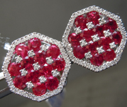 SOLD.....Cuff Links: 18Karat White Gold Ruby and Diamond Gent's Cuff Links R7099