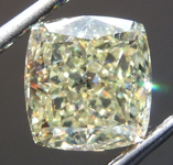 SOLD......Loose Yellow Diamond: 2.76ct Fancy Light Yellow VS2 Cushion Modified Brilliant Diamond GIA R6919