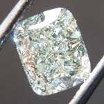 Loose Green Diamond: 1.20ct Light Green SI2 Cushion Modified Brilliant Diamond GIA R7046