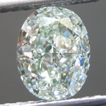 Loose Green Diamond: 1.80ct Light Green SI2 Oval Modified Brilliant Diamond GIA R7125