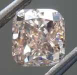 Loose Brown Diamond: 1.01ct Y-Z, Light Brown SI1 Cushion Modified Brilliant Diamond GIA R7122