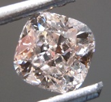Loose Pink Diamond: .70ct Fancy Light Brownish Pink VVS1 Cushion Modified Brilliant Diamond GIA R7132