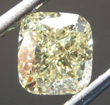 Loose Yellow Diamond: 1.01ct Y-Z Light Yellow SI2 Cushion Modified Brilliant Diamond GIA R7116