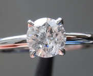 Diamond Ring: .61ct I I2 Round Brilliant Diamond Solitaire Ring R6911