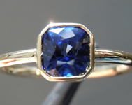 SOLD....1.08ct Blue Cushion Cut Sapphire Ring R7019