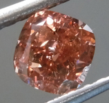 SOLD....Loose Diamond: 1.10ct Fancy Deep Pink-Brown I1 Cushion Modified Brilliant Diamond GIA R7150