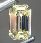 Loose Yellow Diamond: .47ct Fancy Intense Yellow SI1 Emerald Cut Diamond GIA R7148