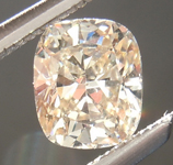 Loose Brown Diamond: .45ct U-V (Light Brown) SI1 Cushion Cut Diamond R6996