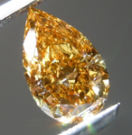 Loose Orange Diamond: 1.00ct Fancy Intense Orange-Yellow SI1 Pear Modified Brilliant Diamond R7145