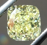 1.01ct Intense Yellow I1 Cushion Cut Diamond GIA R7163