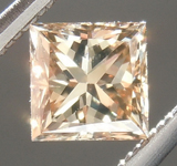 Loose Brown Diamond: .48ct Fancy Yellow Orangey Brown SI2 Princess Cut Diamond R6999