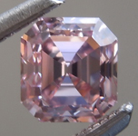 Loose Pink Diamond: .61ct Fancy Intense Purplish Pink VS1 Emerald Cut Diamond GIA R7211