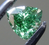 Loose Green Diamond: .19ct Fancy Vivid Green SI2 Trilliant Diamond GIA R7205