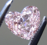 SOLD.....Loose Pink Diamond: .44ct Fancy Orangy Pink VS1 Heart Shape Diamond GIA R7207