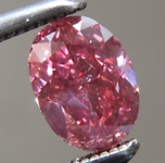 Loose Pink Diamond: .50ct Fancy Vivid Pink SI2 Oval Shape Diamond GIA R7212