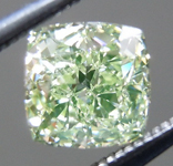 Loose Green Diamond: .71ct Fancy Intense Yellow Green SI1 Cushion Modified Brilliant Diamond GIA R7214
