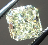 Loose Yellow Diamond: .84ct Fancy Light Yellow VS1 Radiant Cut Diamond GIA R7240