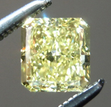Loose Yellow Diamond: .72ct Fancy Yellow VS1 Radiant Cut Diamond GIA R7243
