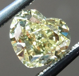 Loose Yellow Diamond: .77ct Fancy Yellow Internally Flawless Heart Shape Diamond GIA R7244