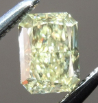 Loose Yellow Diamond: .43ct Fancy Yellow VS2 Radiant Cut Diamond GIA R7248