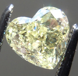 SOLD.........Loose Yellow Diamond: .93ct Fancy Yellow SI1 Heart Shape Diamond GIA R7285