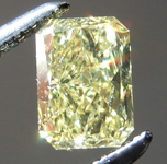 Loose Yellow Diamond: .51ct Fancy Intense Yellow VS2 Radiant Cut Diamond GIA R7288