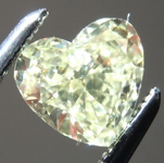 Loose Yellow Diamond: .85ct Fancy Yellow VS2 Heart Shape Diamond GIA R7290
