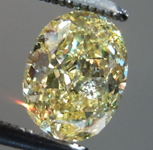 Loose Yellow Diamond: .78ct Fancy Intense Yellow VS1 Oval Shape Diamond GIA R7261