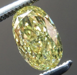 SOLD....Loose Yellow Diamond: .61ct Fancy Intense Yellow Oval Shape Diamond GIA R7264