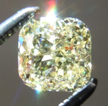 Loose Yellow Diamond: .74ct Fancy Yellow VVS2 Cushion Modified Brilliant Diamond GIA R7267