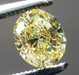 Loose Yellow Diamond: .60ct Fancy Intense Yellow VS2 Oval Shape Diamond GIA R7268