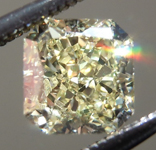 Loose Yellow Diamond: .70ct Fancy Yellow SI1 Radiant Cut Diamond GIA R7273