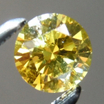 Loose Yellow Diamond: .33ct Fancy Deep Yellow VS2  Round Brilliant Diamond GIA R7247