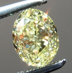 Loose Yellow Diamond: .85ct Fancy Yellow SI1 Oval Shape Diamond GIA R7245
