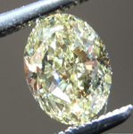 Loose Yellow Diamond: .90ct Fancy Yellow VVS1 Oval Shape Diamond GIA R7275
