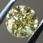 SET IN RING: Yellow Diamond: .59ct Fancy Yellow SI2 Round Brilliant Diamond GIA R7278