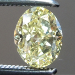 Loose Yellow Diamond: .63ct Fancy Yellow IF Oval Shape Diamond GIA R7276