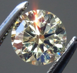Loose Yellow Diamond: .49ct Y-Z VS2 Round Brilliant Diamond GIA R7263