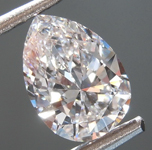 SOLD..Loose Colorless Diamond: .82ct D VS1 Pear Shape Diamond GIA R7308