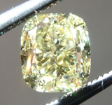 Loose Yellow Diamond: .90ct Fancy Yellow VS1 Cushion Cut Diamond GIA R7286