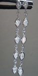 Diamond Earrings: .93ctw F-G VS1 Marquise Diamond Dangle Earrings R7104