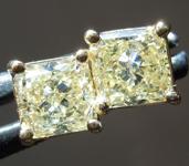 Yellow Diamond Earrings: 1.63ctw Natural Yellow VS1 Radiant Cut Diamond Earrings GIA R2842