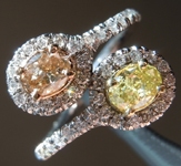 Diamond Ring: .65cts Fancy Colored Oval Shape Diamond Halo Ring R6967