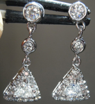 SOLD.........Diamond Earrings: .35cts F VS Trilliant Diamond Dangle Earrings R7252