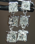 Diamond Earrings: 1.53ctw J VS1 Princess Cut Diamond Dangle Earrings R7251