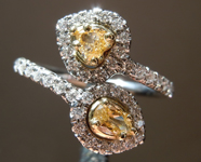 0.65ctw Yellow and Colorless Diamond Ring R7293